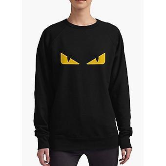 Fendi monster öga svarta kvinnor sweatshirt