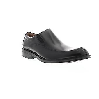 Florsheim Bogan  Mens Black Leather Casual Slip On Loafers Shoes