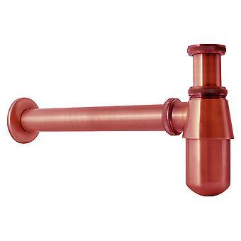 Antique Ancient Copper Waste Bottle Trap Retro Bathroom Drain Siphon Basin Sink
