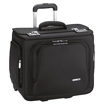 d&n Business & Travel Pilot Case 43 cm 2 Renkaat, Musta