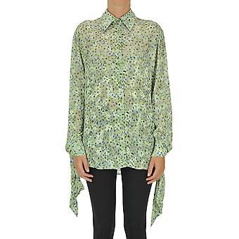 Acne Studios Ezgl151056 Women-apos;s Green Viscose Shirt