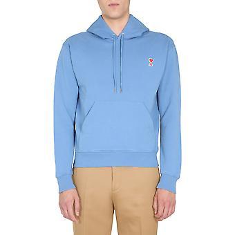 Ami A20hj008730400 Männer's hellblau Baumwolle Sweatshirt