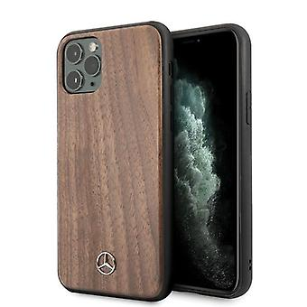 Mercedes-Benz Nussbaum Holz Backcover Fall iPhone 11 Pro Max