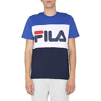 Fila 681244a436 Männer's blaue Baumwolle T-shirt
