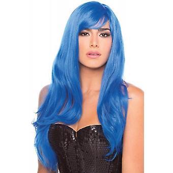 Perruque burlesque - Bleu