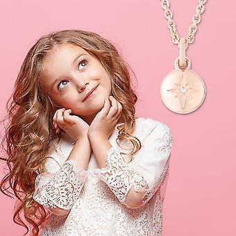 "RACHEL GALLEY White Diamond Star Chain Hanger Ketting Sterling Silver Size 16"""