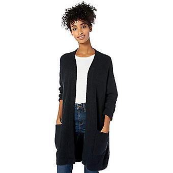 Marca - Goodthreads Boucle Shaker Stitch Cardigan Suéter, Negro, Medio