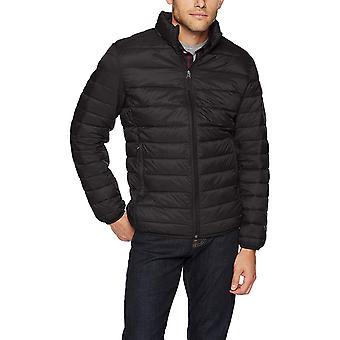 Essentials Men's Lightweight Water-Resistant Packable Puffer Jacket, B...