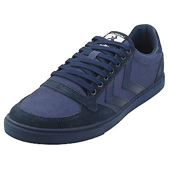 hummel Slimmer Stadil Tonal Low Mens Casual Trainers in Dress Blue