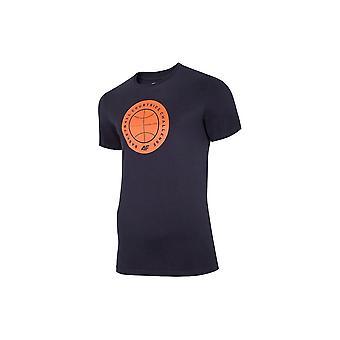 4F TSM027 H4L20TSM027GRANAT universel toute l'année pour hommes t-shirt