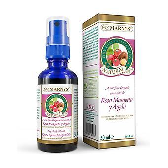 Huile sèche pour le corps à l'huile de rose musquée et à l'argan 50 ml de huile