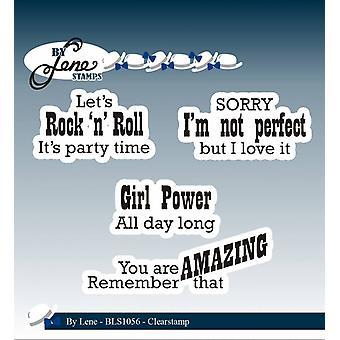 Door Lene Clearstamp Rock'n 'Roll (English Texts) (BLS1056)