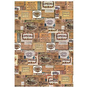 Re-Design med Prima Vintage Cigar Box 22x32 Inch Decor Överföringar