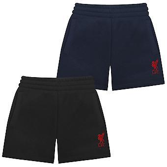 Liverpool FC Official Football Gift Boys Kids Fleece Jogger Shorts