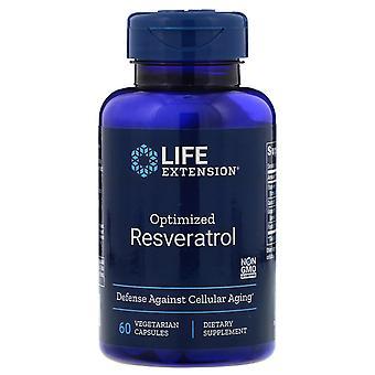 Extensión de vida, Resveratrol optimizado, 60 cápsulas vegetarianas