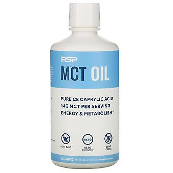 RSP Nutrition, C8 Caprylic Acid MCT Oil, Energy & Metabolism, Unflavored, 32 oz