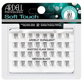 Ardell Duralash Soft Touch Knotted Flare Trios - Medium Black - 3 in 1 Lashes