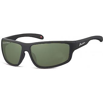 Solglasögon Unisex Cat.3 matt svart/grön (SP313A)