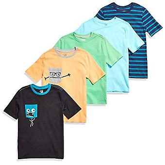 Brand - Spotted Zebra Boy's Kid 5-Pack Short-Sleeve T-Shirts, Chompers...