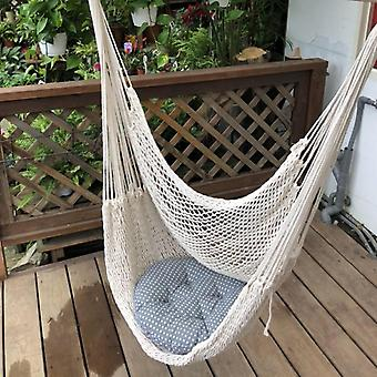 Hanging Hammock Chair - Wall Hang Swing Rope For Outdoor, Indoor, Garden
