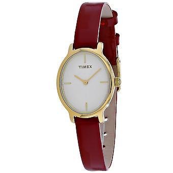 Timex Damen's Klassische weiße Zifferblatt Uhr - TW2R94700