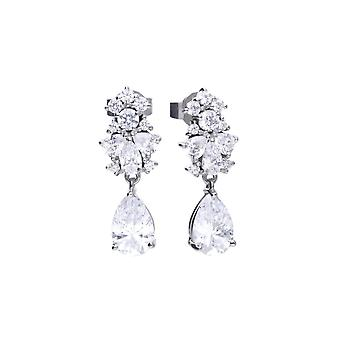 Diamonfire pear shape drop en Cubic Zirconia oorbellen E5779