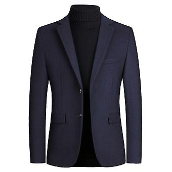 YANGFAN Men's Two Button Suit Blazer Flat Collar Suit Jackets