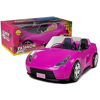 Bábika auto Ružový kabriolet 34 cm