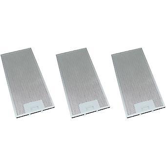 3 x Universal Cooker Hood Metal Grease Filter 165mm x 350mm
