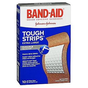 Band-Aid Tough-Strips Adhesive Bandages Extra Large All One Size, 10 ct