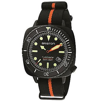 Briston Clubmaster Diver Pro Watch - Black/Orange/Black