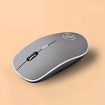 Stuff Certified® G-1600 Wireless Mouse Noiseless - Optical - Ambidextrous and Ergonomic - Gray
