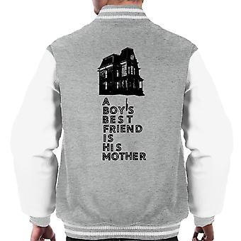 Psycho A Boys Best Friend Is His Mother Men's Varsity Jacket