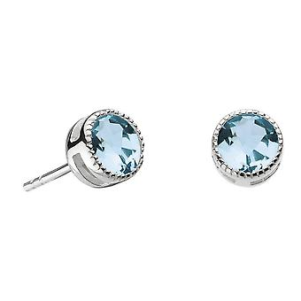 Dew Sterling Silver Vintage Blue Topaz Stud Earrings 3710BT024