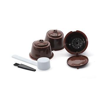 3 Pcs Reusable Coffee Capsule Filter Cup For Nescafe Dolce - Gusto Refillable