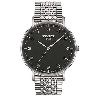 Tissot T109.610.11.077.00 Sort/Sølv Rustfrit Stål Analog Kvarts Mænd's Watch