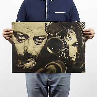 Die professionelle Leon Vintage Kraft Papier klassische Filmplakat