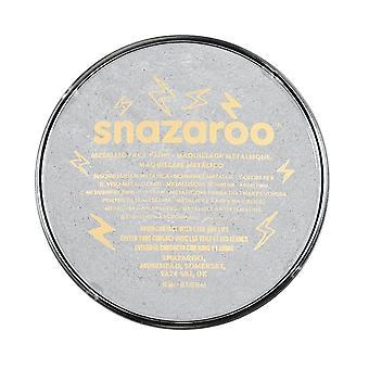 Snazaroo face and body paint, 18 ml - metallic silver (individual colour) metallic 18ml