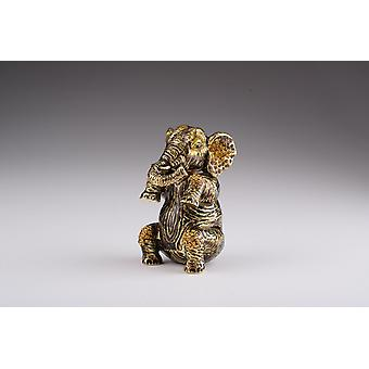Scatola elephant-trinket marrone