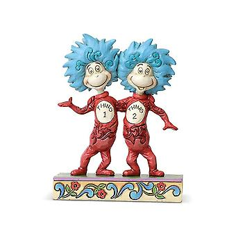 Jim Shore Dr Seuss Thing 1 And Thing 2 Figurine