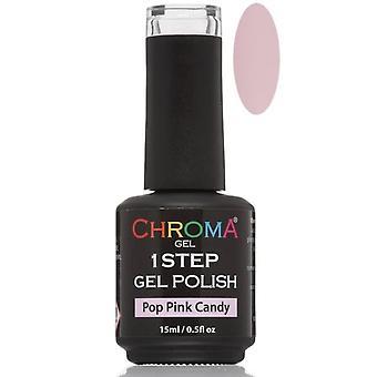 Chroma Gel One Step Gel Polish - Pop Pink Candy