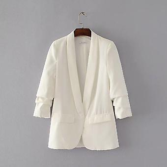 Shawl Collar, Office Ladies Workwear Blazer Long Sleeve, Regular Fit,