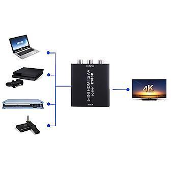 Mini HDMI to AV / CVBS Composite Video Signal Converter(Black)