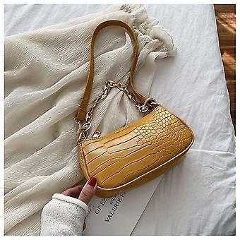 Baguette modello coccodrillo, borse a tracolla e borsa di lusso designer catena