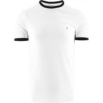 Farah White Groves Ringer T-Shirt