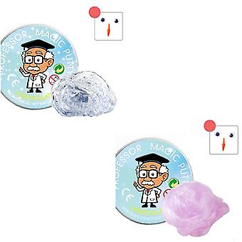 2 Packs Of Liquid Glass Mud, Transparent Putty Ooze, Soft Crystal Ooze Toy For Children And Adults