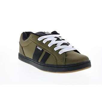 Osiris Loot  Mens Green Canvas Skate Inspired Sneakers Shoes