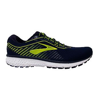 Brooks Ghost 12 Lace Up Navy Blue Woven Mens Running Shoes Trainers 1103161D469