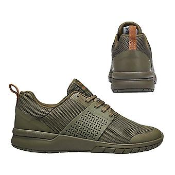 Supra Scissor Lace Up Mens Casual Running Trainers Olive 05669 365 B35B