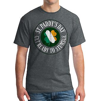 Humor Get Ready To Stumble Men's Dark Heather T-shirt